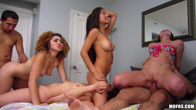 Natalie Lust, Mouna Leese, Angelina Mylee, Megan Salinas   Real Slut Party